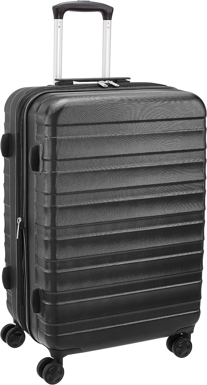 AmazonBasics - Maleta rígida de primera calidad, 68 cm, color negro