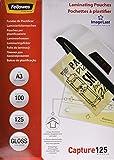 Fellowes 5307506 Pouches per Documenti, Formato A3, 125 Micron, Confezione da 100 Pezzi