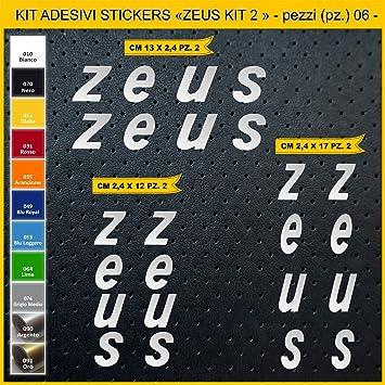 Kit Pegatinas Stickers Bicicleta Zeus Kit 2-06 Piezas- Bike Cycle Cod. 0908 (090 Argento): Amazon.es: Deportes y aire libre