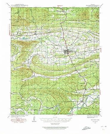 Amazon.com: Arkansas Maps | 1939 Waldron, AR USGS Historical ...