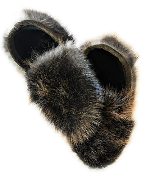 fourrure jackalope real fur slippers canadian beaver fur slides