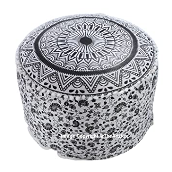 Remarkable Amazon Com The Art Box Indian Ombre Mandala Pouf Ottoman Machost Co Dining Chair Design Ideas Machostcouk