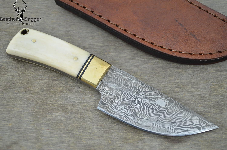 Leather-n-Dagger Sale Professional Custom Handmade Damascus Steel Skinner Hunting Knife Great Gift Ld154