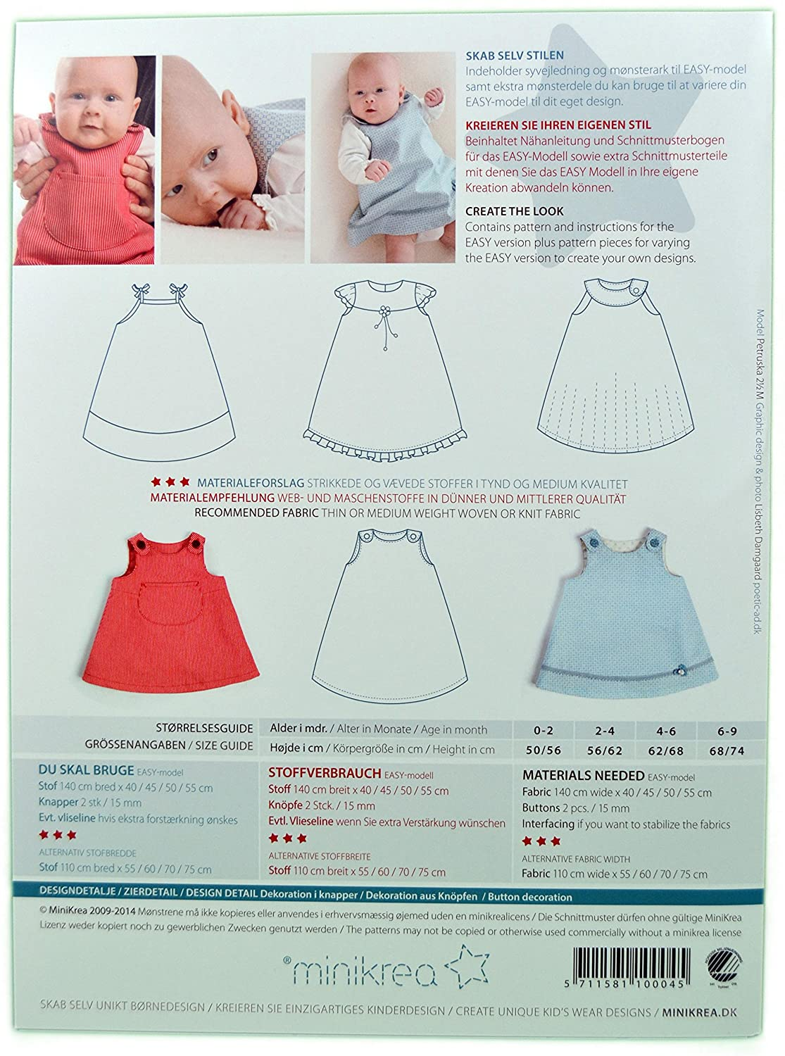 Sewing Pattern Braces Skirt for Newborns and Babies/1X0004/1 - 74 cm ...
