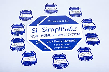 Amazoncom SimpliSafe Home Security System Sign Combo Set Yard - Window decals for home security