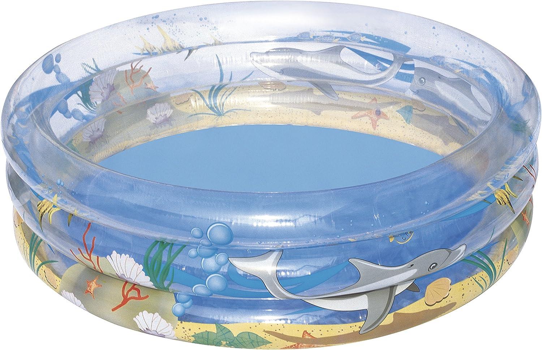 Bestway 51045 Kids' Play Pool - billares para niños (Estampado, Transparente, Vinilo, 1370 x 1370 mm, Caja a Todo Color)