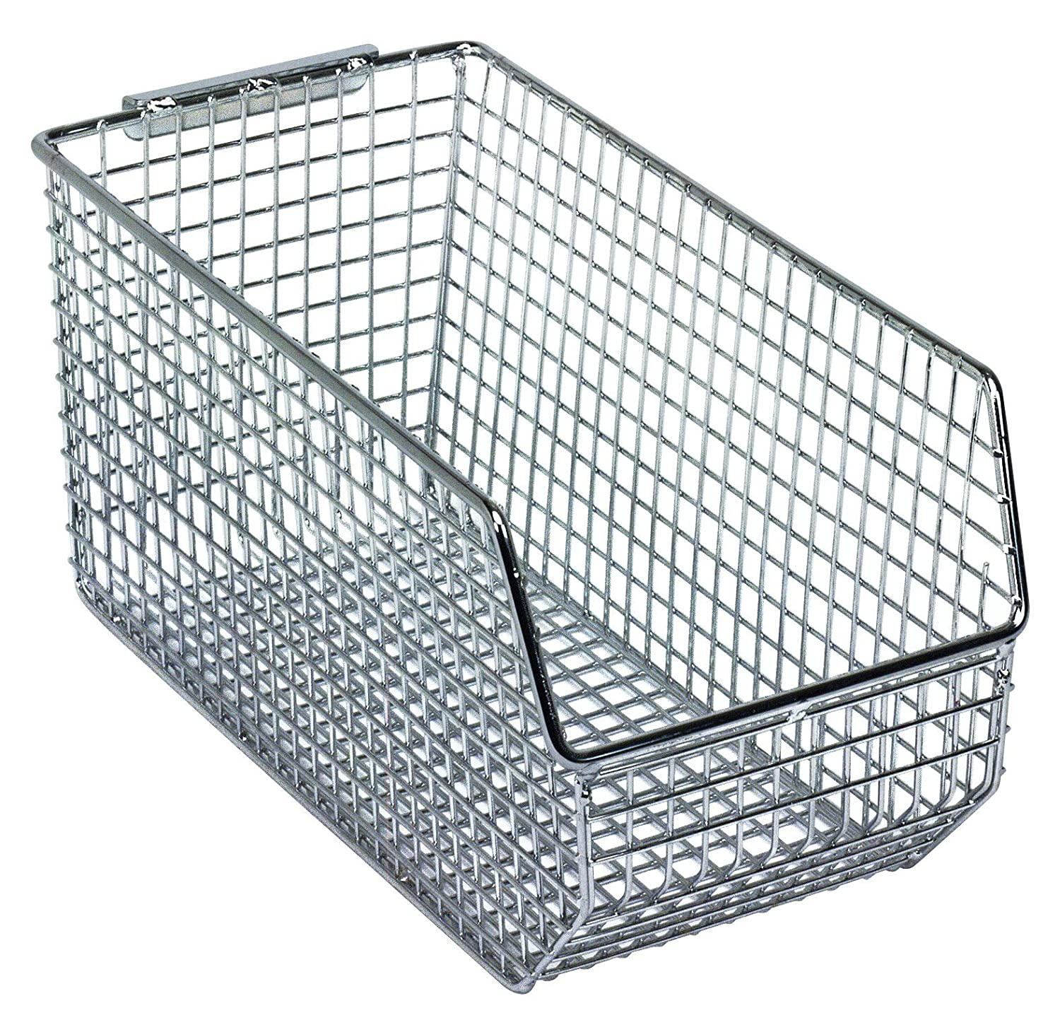 Chrome Pack of 5 Quantum Storage Systems QMB550C Ultra Wire Mesh Stack and Hang Bins 14-1//2 x 16-1//4 x 7