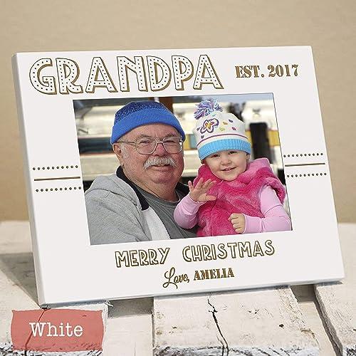 christmas picture frame for grandpa christmas 2017 personalized grandpa picture frame gift for - Grandpa For Christmas