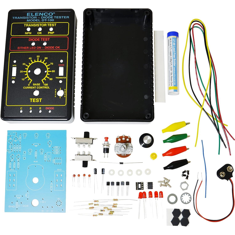 Elenco Diode Transistor Tester Kit Lcr Bridge Analog Digital Meter I C M
