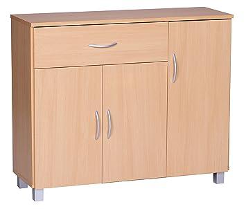 Wohnling Sideboard Jarry 1 Schublade 3 Turen Tief Kommode Anrichte