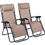 Naomi Home Zero Gravity Chairs Cream/Set of 2