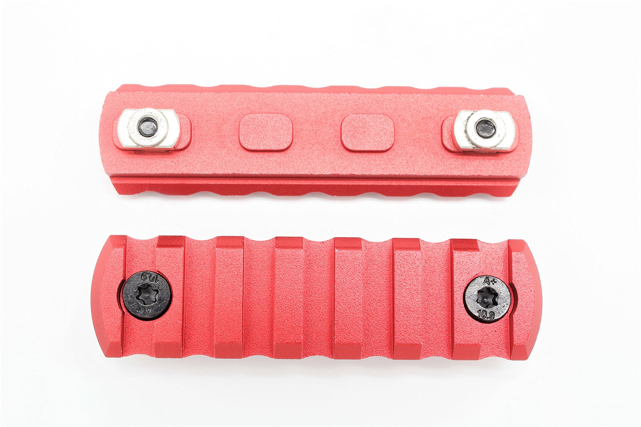 7 Slots M-lok Picatinny/Weaver Rail Sections Red Anodized for M-lok Handguard System by Active-8