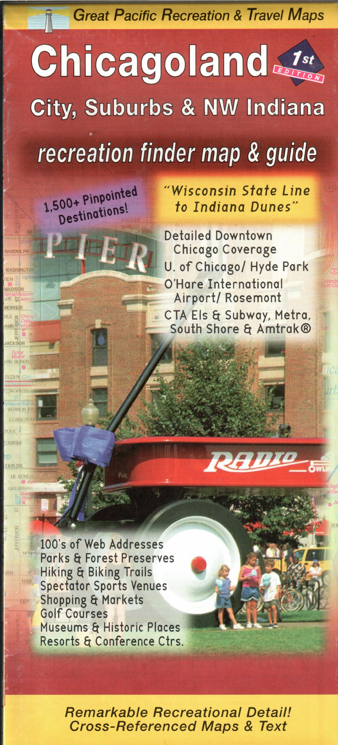 Chicago  Suburbs Road  Recreation Map St Edition David JR - Chicago map rosemont