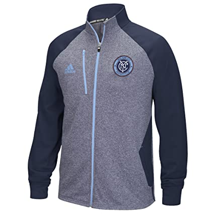 huge discount ac12d 64e13 MLS New York City FC Men s Performance Fleece Track Jacket, Small, Dark  Heather Gray