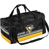 NHL Pittsburgh Penguins Striped Core Duffle Bag, Medium, Black