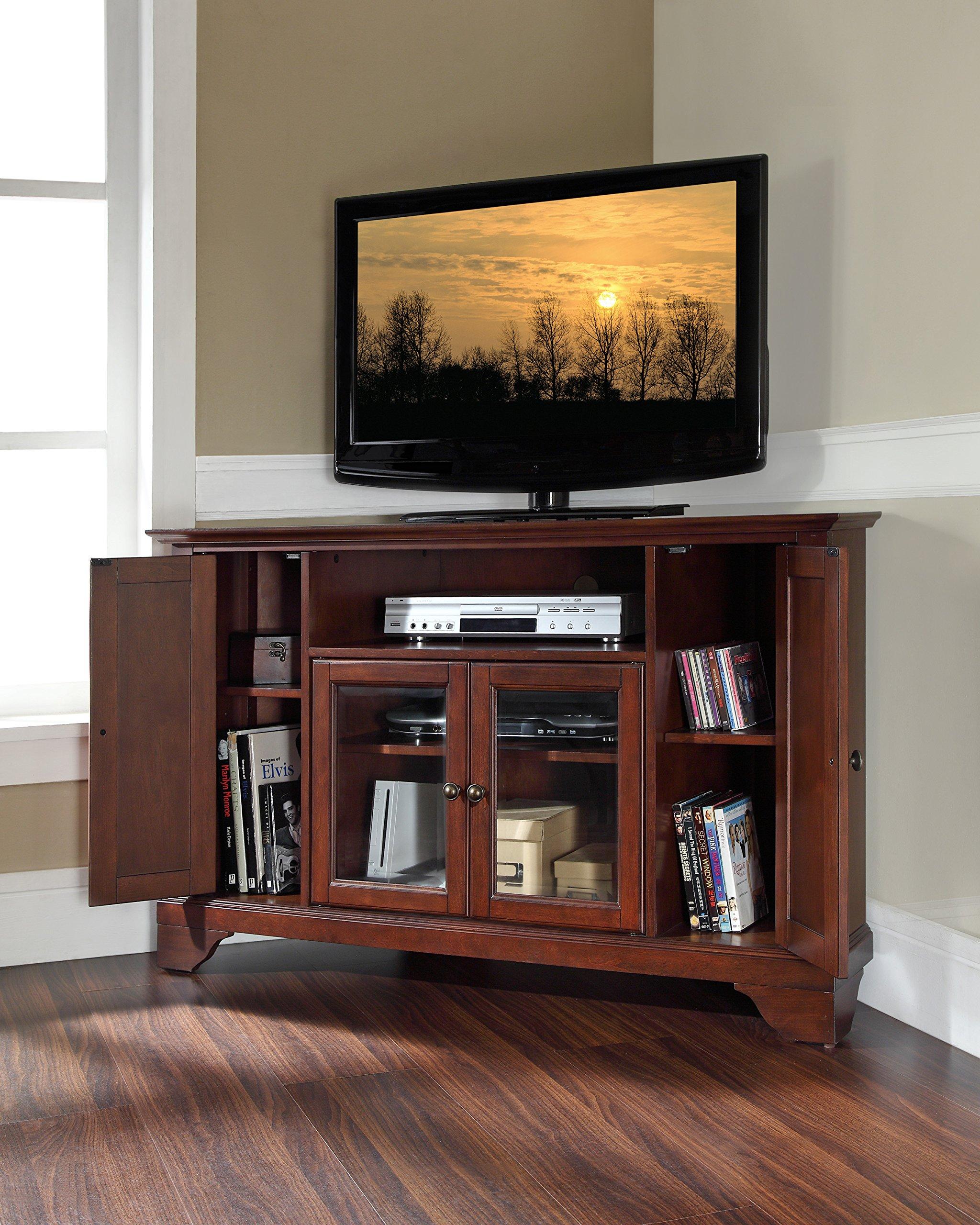 Crosley Furniture LaFayette 48-inch Corner TV Stand - Vintage Mahogany by Crosley Furniture