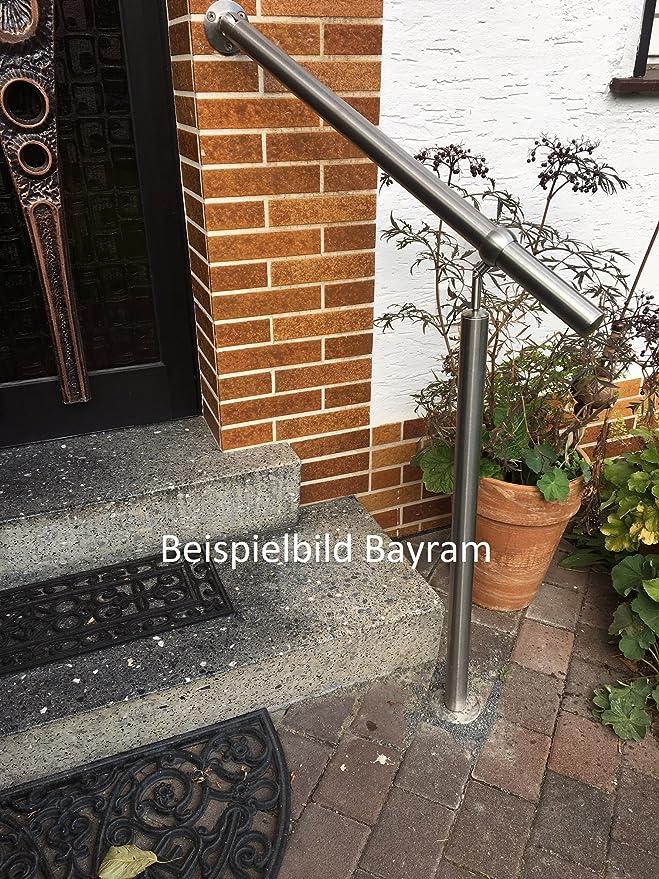 Barandilla de acero inoxidable, pasamanos, barandilla de escalera, barandilla de balcón V2A, juego de montaje para escaleras con material de montaje: Amazon.es: Bricolaje y herramientas