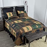 Donna Sharp Full/Queen Bedding Set - 3 Piece - Brown Bear Cabin Lodge Quilt Set with Full/Queen Quilt and Two Standard…