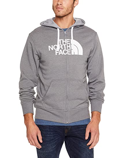 5405b6da76e9d Amazon.com: The North Face Half Dome Full Zip Hoodie - Men's TNF Medium  Grey Heather/TNF White X-Large: Sports & Outdoors