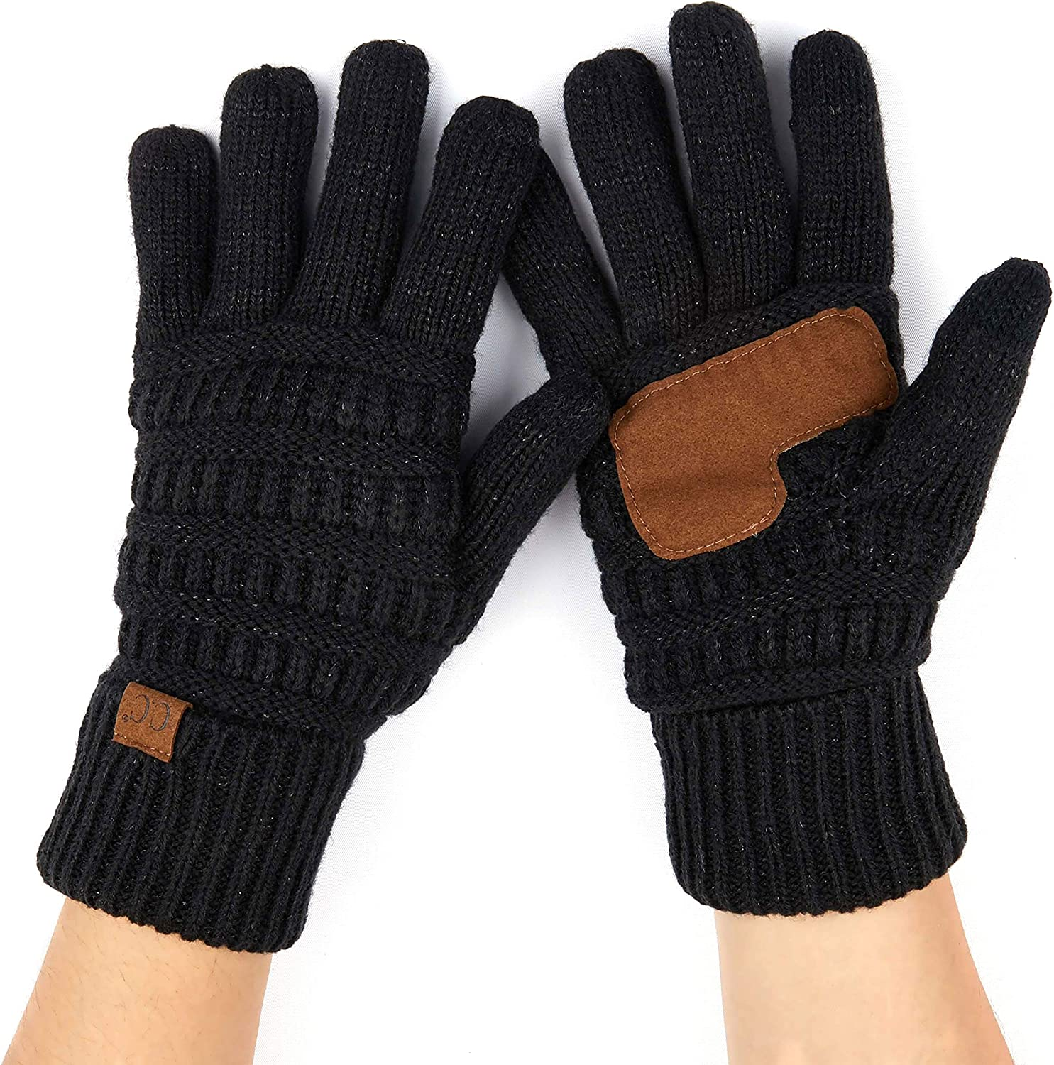 C.C Women Solid Ribbed Glove with Smart Tips (G-20)(G-33)(G-80)