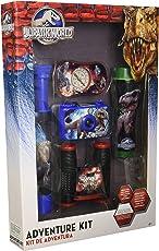 Jurassic World Set de Aventura Binoculares, Cámara 35mm, Linterna, Brujula y Telescopio, 5 Piezas