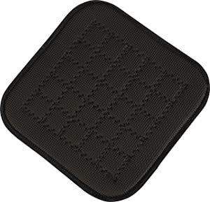 "San Jamar UHP77BK Ultigrip Square Commercial Hot Pad Pan Holder, 7"" X 7"", Black"
