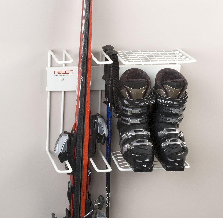 Amazon.com: Racor Pro SR-2R Two Pair Ski Storage Rack for Skis ...