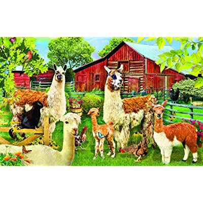 Llamas 100 pc Jigsaw Puzzle by SunsOut: Toys & Games