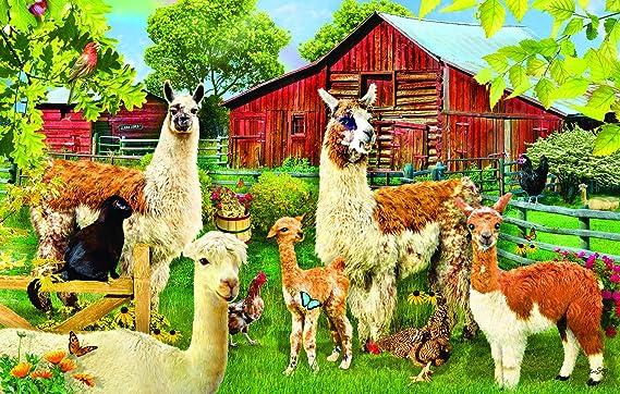 Llamas 100 pc Jigsaw Puzzle by SunsOut