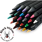 Colored Pencil Set, Black Widow Color Pencils For Adults, Use In Your Coloring Books, 24 Unique and Vivid Colors Giving You Fantastic Results. Stop Searching For Incredible, You Found It