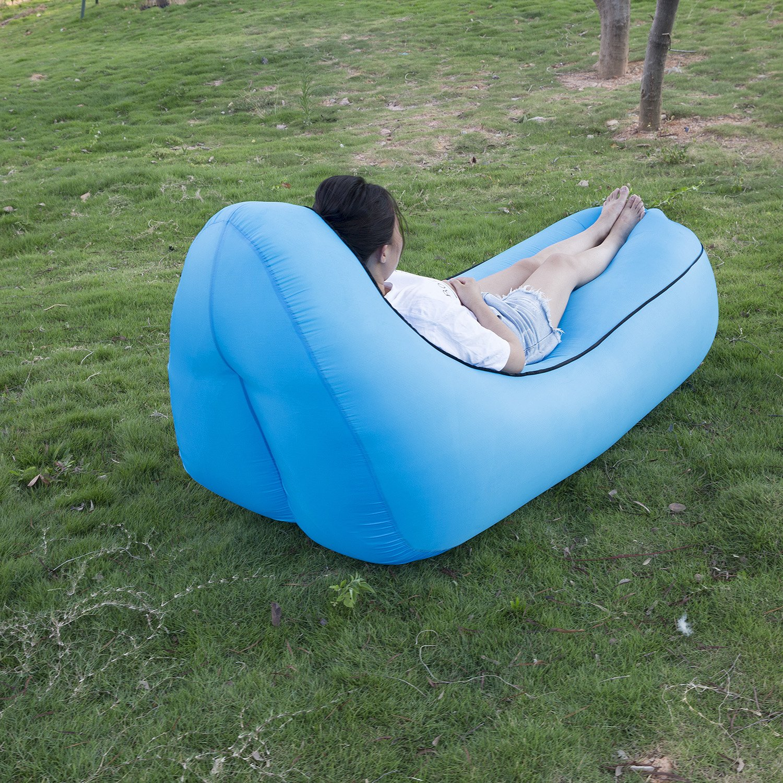 Sofa Hinchable,WeyTy tumbona hinchable sofa inflable,port/átil impermeable ligero poli/éster aire sof/á inflable ocioso,aire cama Tumbona de playa para viajes,piscina,Camping,parque