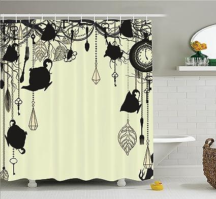 Amazon.com: Ambesonne Antique Decor Shower Curtain, Antique ...