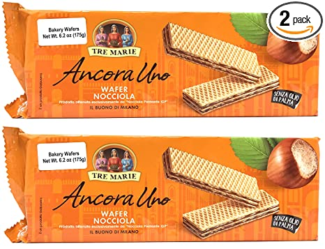 Review Tre Marie Italian Hazelnut Cream Filled Wafers (Pack of 2)