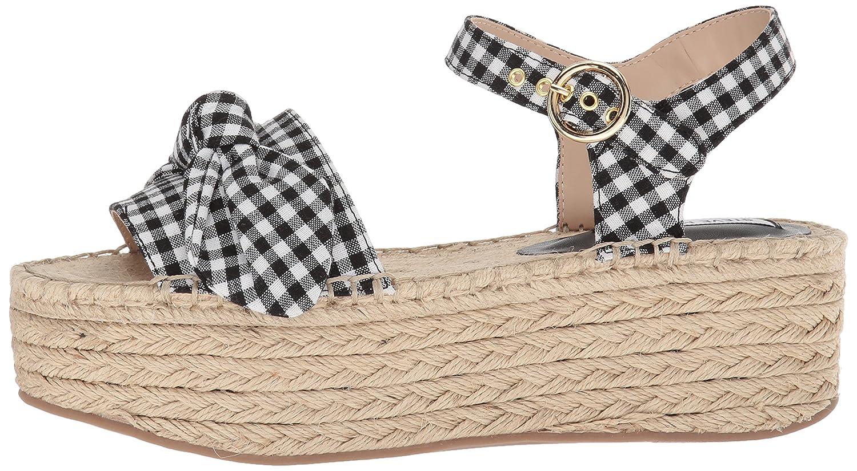 Steve Madden Women's Union Wedge Sandal B077GY9LFS 6.5 B(M) US|Black Gingham