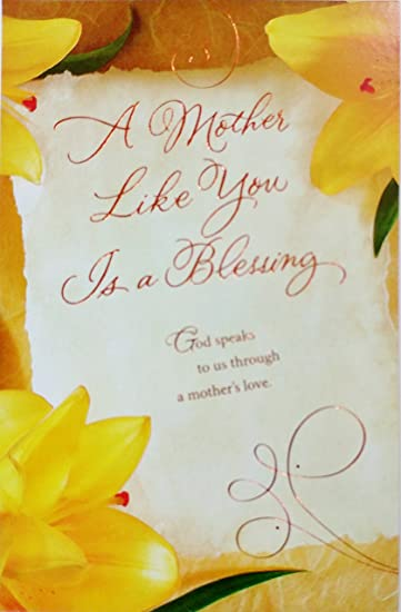 Amazon a mother like you is a blessing religious mothers a mother like you is a blessing religious mothers day greeting card quot m4hsunfo