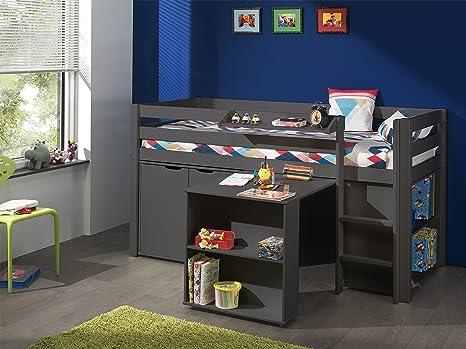 Vipack picohsbubikd15 pino letto a soppalco con scrivania libreria