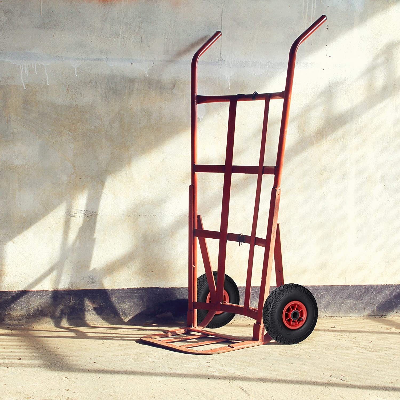 Ruote ad Aria relaxdays Set di 2 3.00-4 per Carriola Cerchione in Plastica 260x85 mm Nero-Rossoo ASSE 25mm