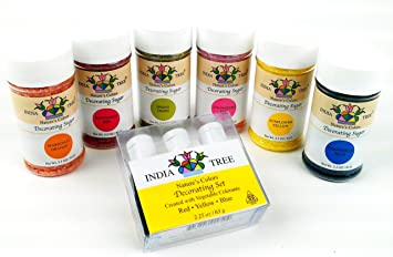 Amazon.com : India Tree Natural Decorating Sugars (6 bottles) and ...