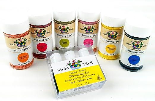 Amazon.com : India Tree Nature\'s Colors Decorating Sugars 6 Color ...