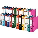 Esselte plastikordner Standard, DIN A4, 75 mm, assorti, Lot de 10 paquet - classique,mixte, 24er Pack