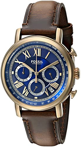 Fósil de Hombre FS5148 Buchanan - Reloj cronógrafo con Correa de Piel Color marrón Oscuro: Amazon.es: Relojes