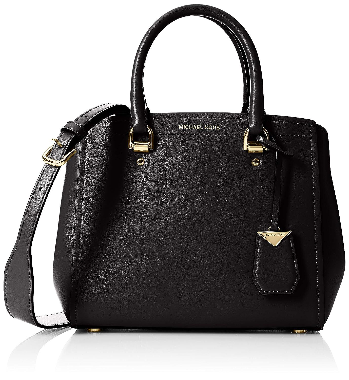 7c182161590b Michael Kors Benning Medium Leather Satchel, Women's Shoulder Bag ...