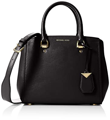 aab7e894fc49 Amazon.com  Michael Kors Benning Medium Leather Satchel