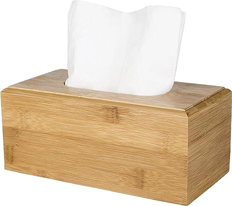 Facial Tissue Holder MyGift Black Wood Grain Tissue Box Cover