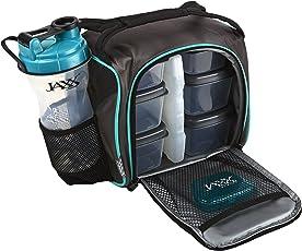 Jaxx fitPak Set de contenedores con control de porciones, Verde azulado, 1, 1