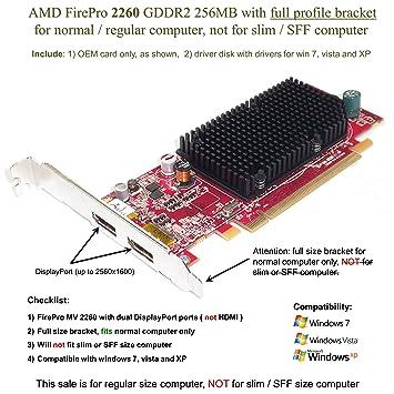 Amazon.com: AMD FirePro MV 2260 – Tarjeta gráfica (PCI-E x ...