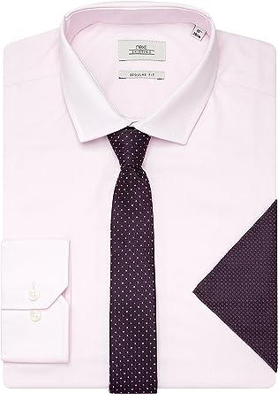 next Hombre Conjunto De Camisa, Corbata Y Pañuelo Rosa EU 56 ...