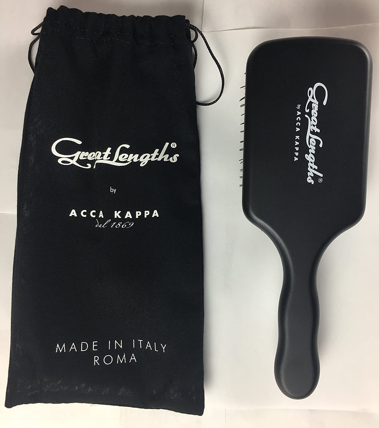 Great Lengths Square Paddle Brush by ACCA KAPPA Made in Italy Wood and Boar Bristle 91Px9pQBF6L._SL1500_
