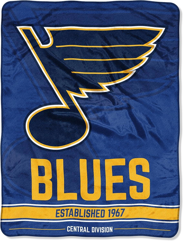 "Officially Licensed NHL ""Break Away"" Micro Raschel Throw Blanket, Multi Color"