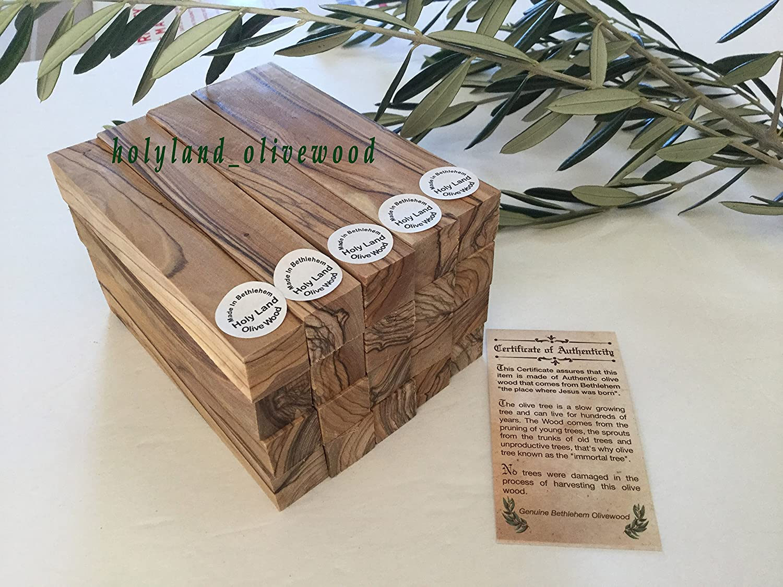6 pcs Exotic Bethlehem OLIVE WOOD Bottle Stoppers Turning Blanks W COLORS.pen